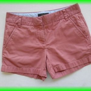 J Crew Chino Shorts peach pink Size 0